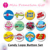 Candy Logo Cartoons Button Set Plastic Iron Bottom Badge