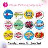 Candy Logo Cartoons Button Set Plastic Iron Bottom Badge