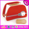 The Simulation Red Wooden Bread Machine Toy Set with En71 for Children Play W10d109
