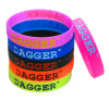 Fashion Promotional Logo Deboosed Color Filled Silicone Wristband