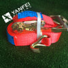 Polyester Retractable Ratchet Tie Down Ratchet Strap for Cargo Lashing