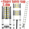 2m Single Telescopic Ladder with Finger Safety Gap