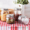 Clear Glass Fruit Salad Canning Mason Jar Without Handle