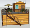 Simple Vacation Mobile Prefabricated/Prefab House/Villa for Large Quantity
