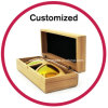 Custom Logo Wooden Bamboo Sunglasses Case
