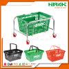 Supermarket Metal Shopping Basket Stand