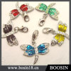 Handmade Candy Color Crystal Dragonfly Metal Charms Bracelet with Enamel