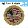3D Gold Coin with Imitation Hard Cloisonne, Millitary Coin