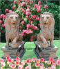 Natural Stone Art Carving Animal/Lion Sculpture for Landscape/Decoration