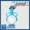 Didtek Flanged Soft Rubber Seated Pneumatic Butterfly Valve