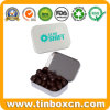 Mini Small Hinged Metal Chocolate Tins for Gift Packaging Box