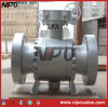 Cast Steel Three Piece Flanged Trunnion Ball Valve (Q347N)