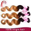 Unprocessed 100%Human Virgin Raw Cheap Ombre Hair Extension