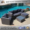 Well Furnir Wf-17124 Rattan 6 Piece Sectional Seating Group with Cushion