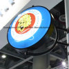 Double Side Round Revolving Acrylic Light Box Advertising