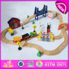 Hot New Product for 2015 Kids Toy Railway Toy Train, DIY Wooden Toy Train Railway Set Toy, Wooden Train Toy (WITH 51PCS) W04c016