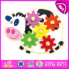 2014 New Kids Wooden Gaming Gear Toy, Popualr Cute Children Gaming Gear Toy, Lovely Baby Cow Style Wooden Gaming Gear Toy W13e035