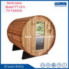 Barrel Sauna Outdoor Sauna Room with Burning Stove or Electric Heater