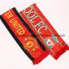 OEM Customized Logo Printed Polyester Satin Football Fan Club Scarfs