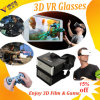 Plastic Private 3D Virtual Reality Glasses Headset Cinema on Smartphone 80 Inch Screen