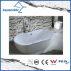 3 Sizes Bathroom Oval Solid Surface Freestanding Bathtub (AB6906-2)