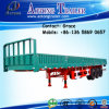 3 Axles 40feet Flatbed with Side Wall, Open Side Board Cargo Semi Trailer, Sidewall Semi Trailer, Wall Side Semi Trailer, Side Wall Open Semi Trailer for Sale