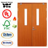 Wooden Fire Proof Door with Britain BS Standard Certified/Fire Door with Glass