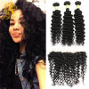 Cheap Lace Frontal Closure with Bundles 4 Bundles with Frontal Closure Wet Deep Curly Peruvian Virgin Hair with Closure