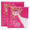 5*7'' Printing Paper Cover Photo Album with 3 Cups