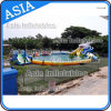 Hot Sales Giant Inflatable Shark Water Park with Slide, Inflatable Pool Water Park