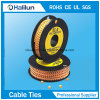 Yellow Circle Cable Marker for Cables Ranging Electrical PVC