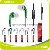 2017 Hot Sale Green Wired Headphone with Mic