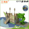 Children Wooden Ship Outdoor Playgroud Equipment with Plastic Slide