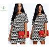 2017 Fashion Euramerican Chiffon Cotta Printed Dress Maxi Dress Factory