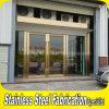 Golden Luxury Exterior Metal Stainless Steel Swing Security Glass Entry Door