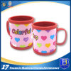 Colorful Heart Plastic Mug with Soft PVC Tape (Ele-PVC019