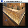 Hot Solid Surface LED Bar Counter with Carvings (TW-PACT-001)