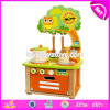 New Design Children Pretend Play Kitchen Set Wooden Toy Cooking Set W10c315