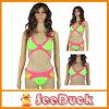 Region Bandage Swimsuit Paris Beachwear Swimwear Green Sexy Bikini (KS610902)