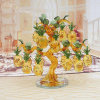 Crystal Furnishing Gift Promotion Gold Crystal Pineapple Tree