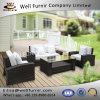 Well Furnir Rattan 4 Piece Outdoor Patio Sofa Set