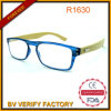 2015 New Trendy Fashional Colorful Compact Reading Glasses Bamboo Arm Glasses with Thin PC Frame