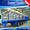 Juyuan Log Timber Wood Transport Flatbed Semi Trailer with Side Bar