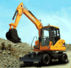 Farm Machine, Digging Machine, 0.3cbm Bucket Wheeled Excavator for Sale