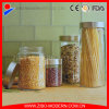 Clear Large Round Glass Honey Canning Jars for Food with Metal Lid