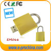 Golden Lock USB Flash Disks, Padlock USB Flash Drive (EM-066)