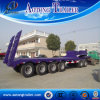 4 Axles Construction Equipment Carring Low Bed Semi Truck Trailer