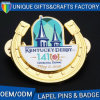 Custom Die Stamped Brass Synthetic Enamel Metal Lapel Pin