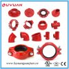 UL Listed FM Approval Ductile Grooved Iron Reducer Tee 139.7*48.3