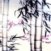 S1-00150 Chinese Ink Painting with Bamboo Wallpaper Murals